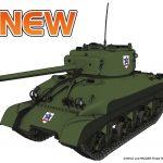 【プラッツ 全日本模型ホビーショー新製品】1/35 M4A1シャーマン サンダース大学付属高校が登場!! #garupan